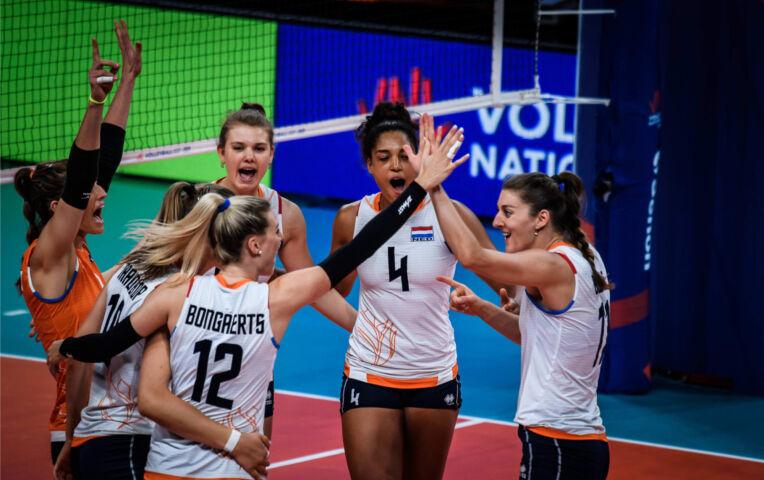 Nederlandse volleybaldames winnen laatste wedstrijd van Zuid Korea