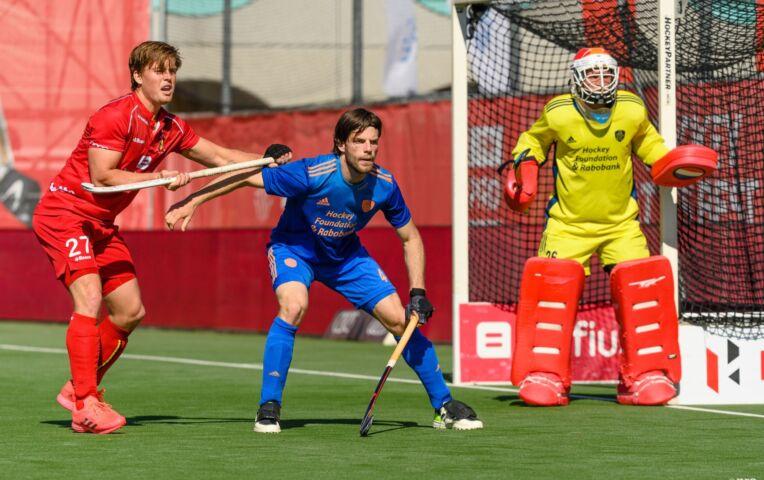 Nederlandse hockeyheren tonen vorm tegen België