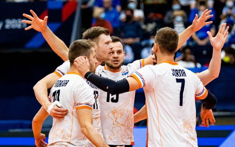 EK Volleybal heren: Rusland - Nederland