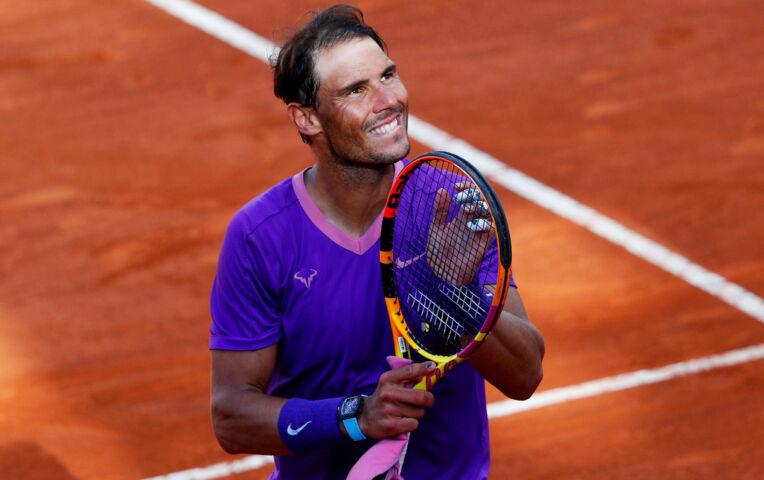 Nadal wint van Shapovalov in Rome