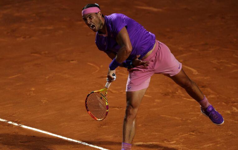 Nadal wint van Sinner in Rome