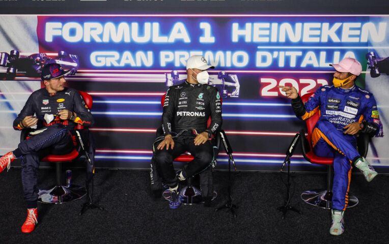 Persconferentie na de Sprint van de GP van Italië