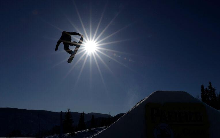 Casper Wolf 14e op WK Snowboard Slopestyle