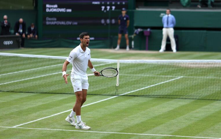 Djokovic voor zevende keer naar eindstrijd Wimbledon