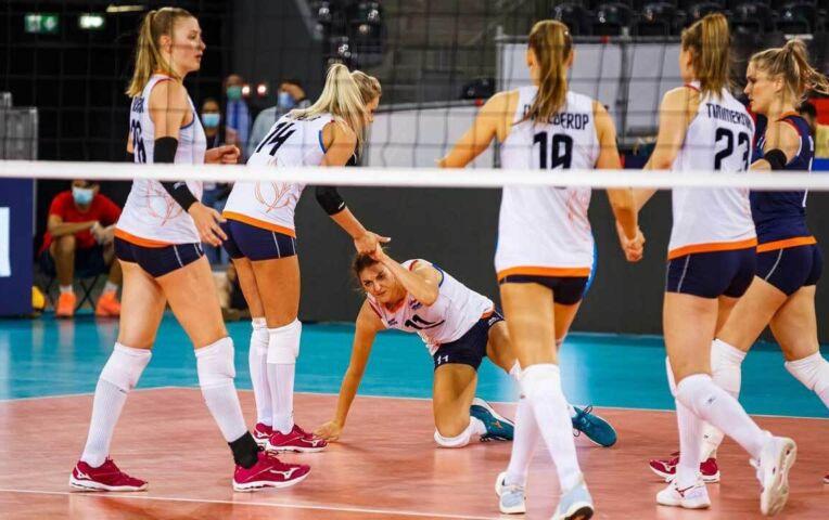 Volleybalvrouwen op EK ten onder tegen Turkije