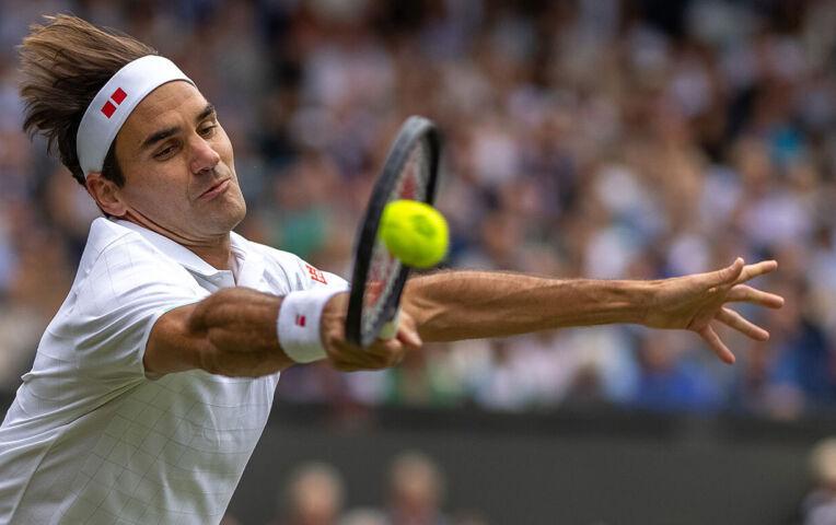 Federer verslaat Sonego en richting kwartfinale Wimbledon