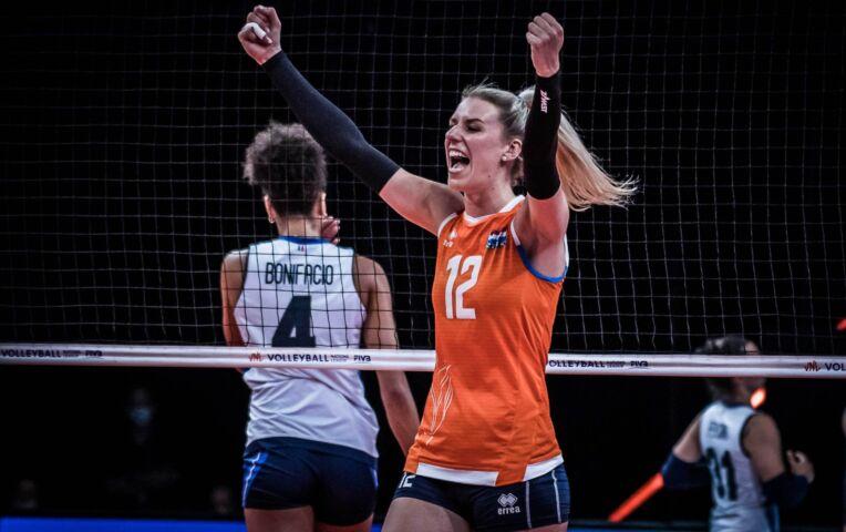 VNL: Nederland wint van Italië na knappe comeback