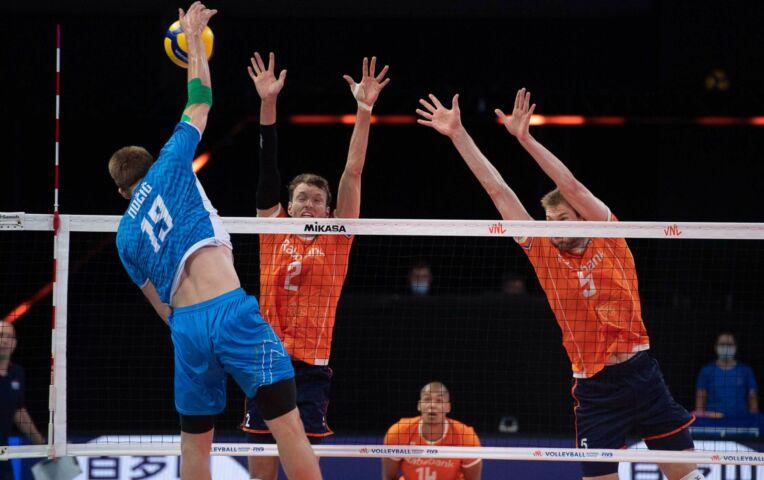Nederlandse volleybalheren kansloos tegen Slovenen