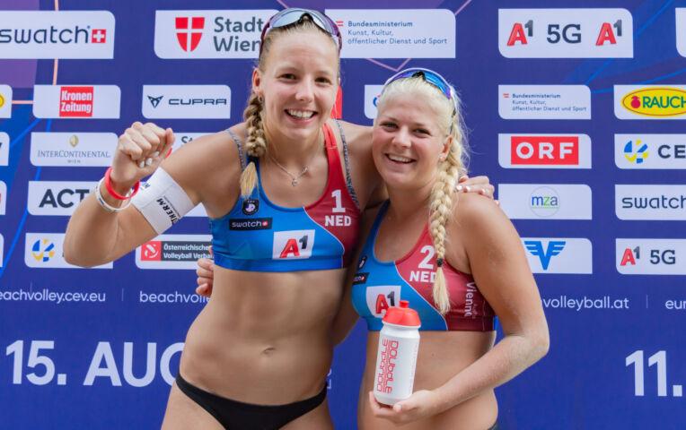 Highlights EK Beachvolleybal - Nederland - Duitsland - Stam / Schoon