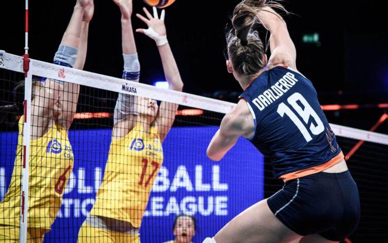 Nederlandse volleybaldames kansloos tegen China