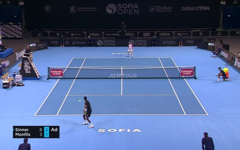 Finale ATP 250 Sofia Open: Sinner - Monfils
