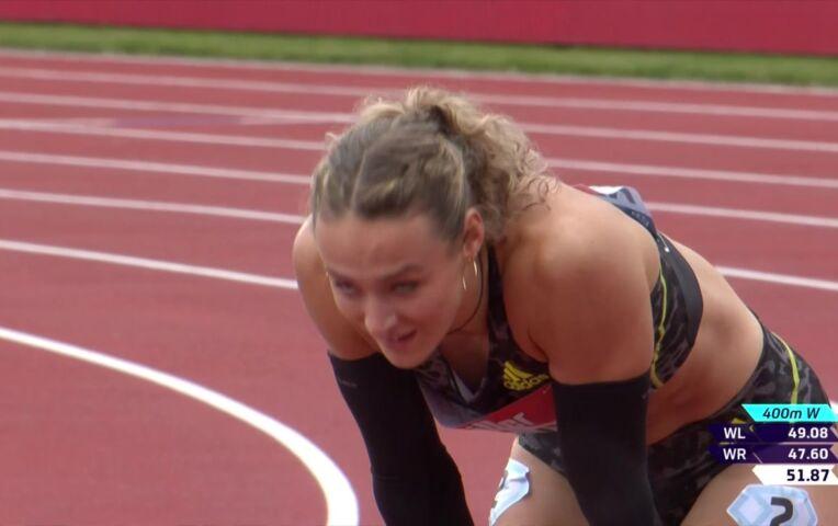 Lieke Klaver derde op de 400 meter in Gateshead
