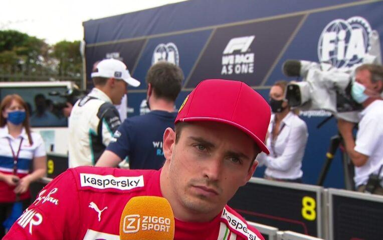 Leclerc: 'Pffffff. Een hele lastige race, ik heb er geen antwoorden voor'