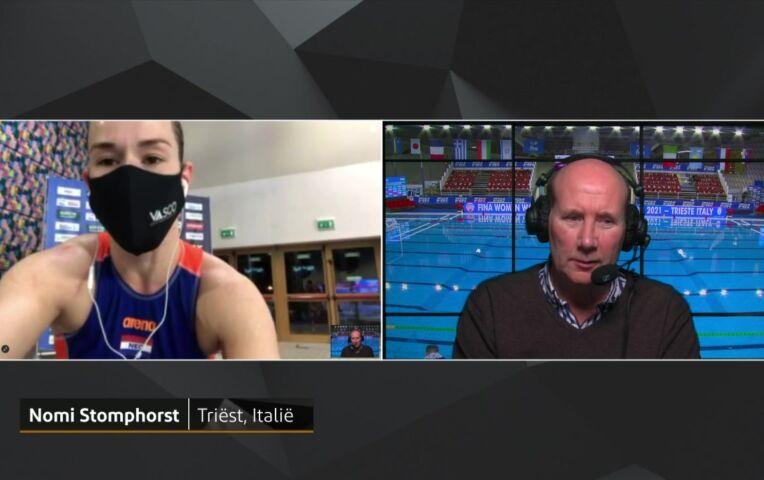 OKT Waterpolo Kwartfinale: Reactie Nomi Stomphorst na Nederland - Kazachstan