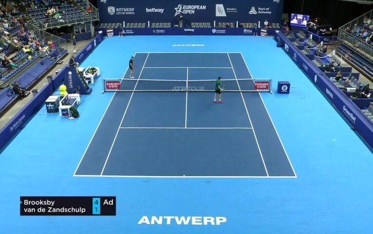 Botic van de Zandschulp uitgeschakeld in het ATP 250 European Open Antwerpen
