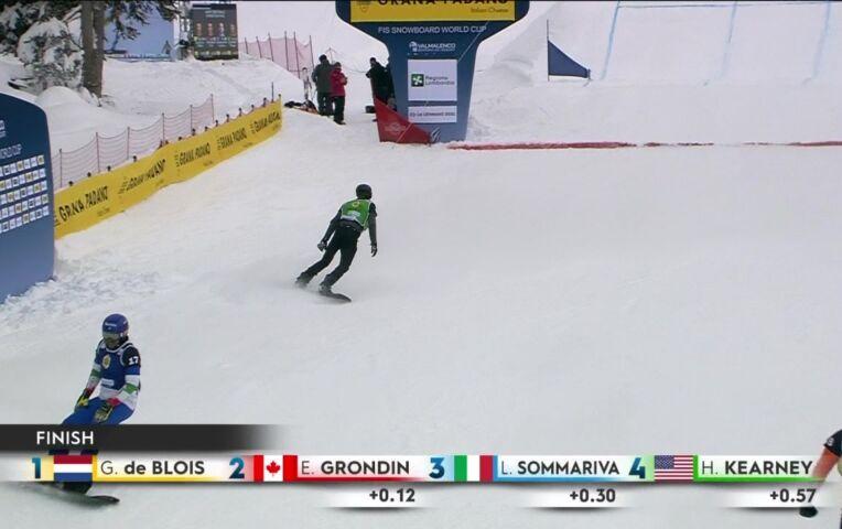 Glenn de Blois stunt met winst snowboard cross WB in Valmalenco