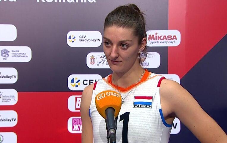Nederland - Turkije (dames) (interviews)