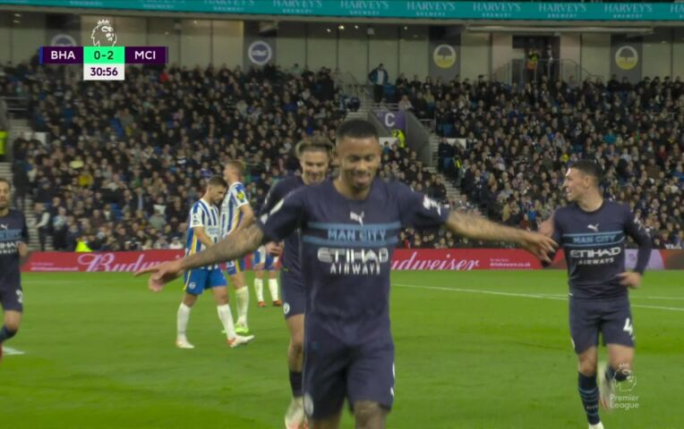 Brighton and Hove Albion - Manchester City