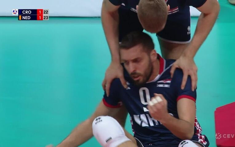 Nederland - Kroatië 3-1 (EK Kwalificatie Volleybal mannen)