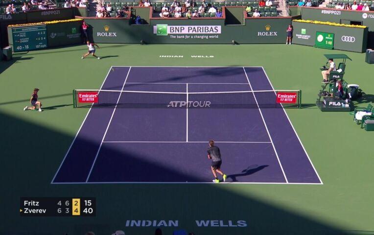 Fritz verslaat Zverev en bereikt de halve finale Indian Wells