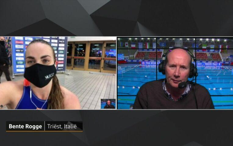 OKT Waterpolo Kwartfinale: Reactie Bente Rogge na Nederland - Kazachstan
