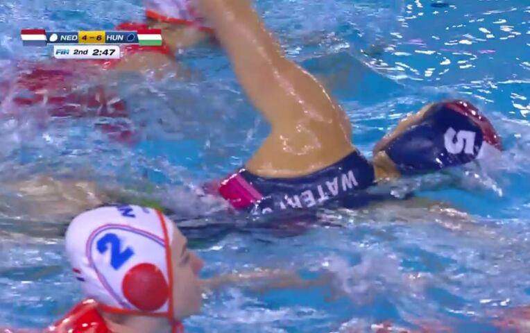 OKT waterpolo finale: Nederland - Hongarije