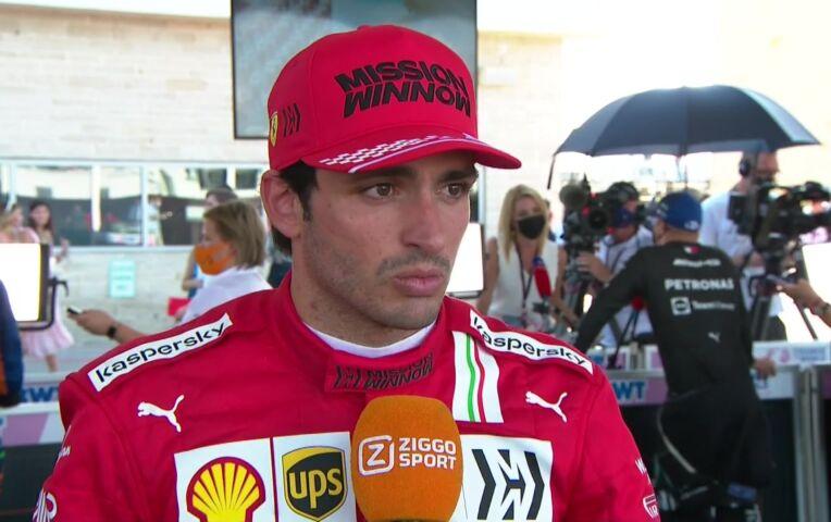 Sainz: 'Kon Ricciardo maar niet voorbij'