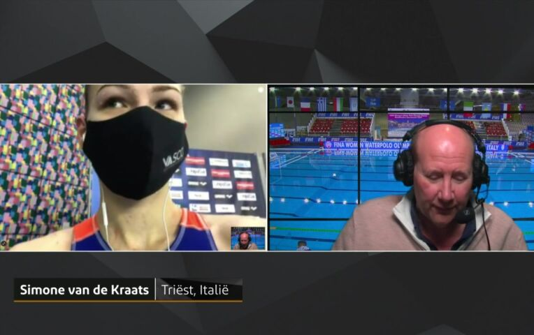 OKT waterpolo finale: Simone van de Kraats
