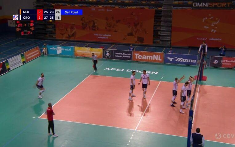 EK Kwalificatie Volleybal Heren: Nederland - Kroatië