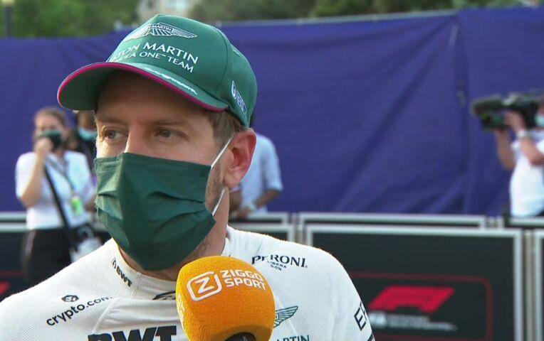 Vettel: 'Heel, heel blij voor het team'