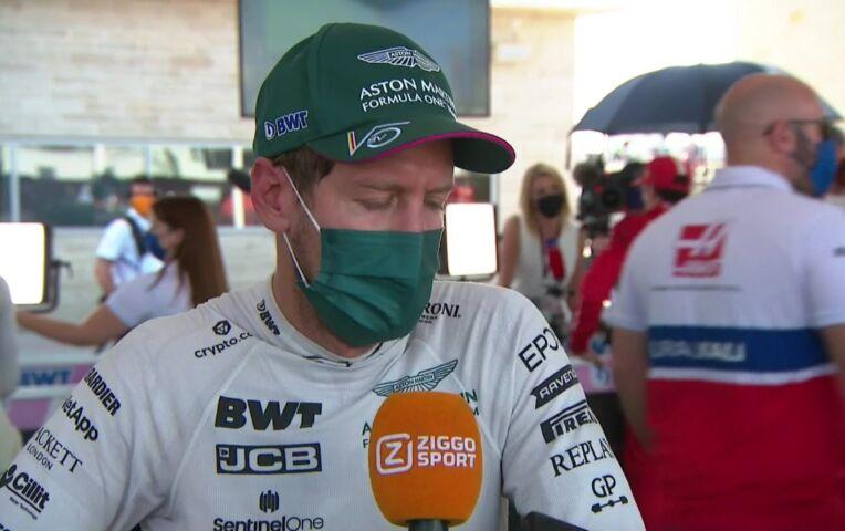 Vettel: 'Beste gedeelte van mijn race was het gevecht met Russell'
