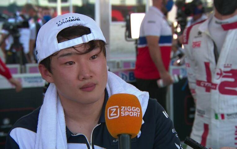 Tsunoda: 'Gelukkig raakte ik hem niet'