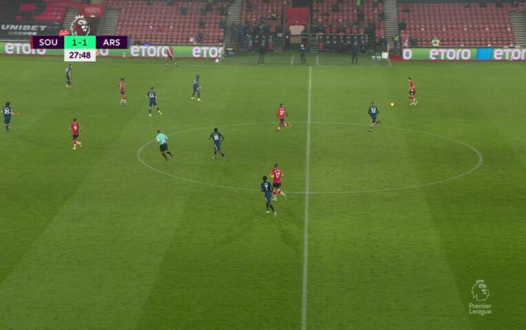 Southampton - Arsenal (lange samenvatting)