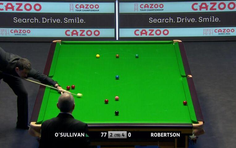 Break van 133 voor O'Sullivan