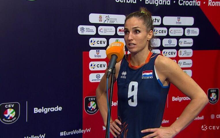 Nederland - Italië (dames) (interviews)