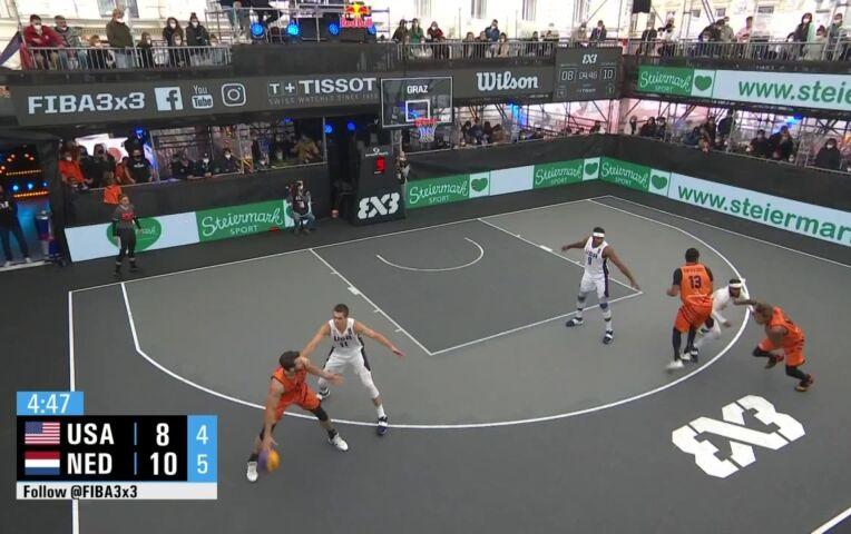 OKT 3x3 Basketbal Mannen: Nederland - Verenigde Staten