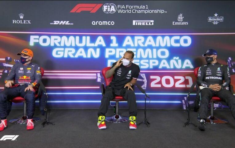 Persconferentie na de kwalificatie van de GP van Spanje