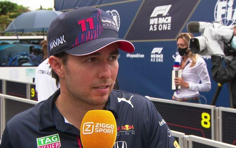 Pérez: 'Nog 2-3 rondjes en ik had Lewis kunnen pakken'