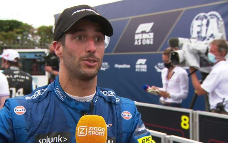 Ricciardo: 'Hier word ik het gelukkigst van: agressief strijden om plekken'